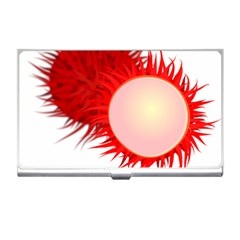 Rambutan Fruit Red Sweet Business Card Holders by Mariart
