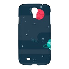 Space Pelanet Galaxy Comet Star Sky Blue Samsung Galaxy S4 I9500/i9505 Hardshell Case by Mariart