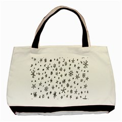 Star Doodle Basic Tote Bag (two Sides) by Mariart