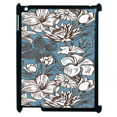 Star Flower Grey Blue Beauty Sexy Apple Ipad 2 Case (black) by Mariart