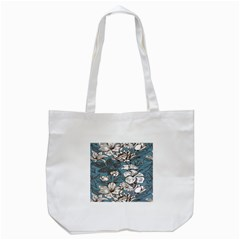 Star Flower Grey Blue Beauty Sexy Tote Bag (white) by Mariart