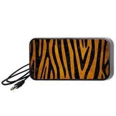 Skin4 Black Marble & Yellow Grunge (r) Portable Speaker by trendistuff