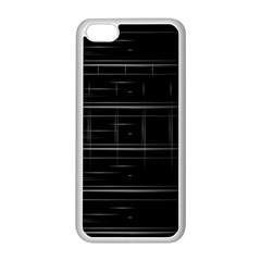 Stripes Black White Minimalist Line Apple Iphone 5c Seamless Case (white) by Mariart