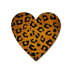 Skin5 Black Marble & Yellow Grunge (r) Heart Magnet by trendistuff