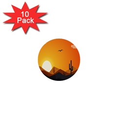 Sunset Natural Sky 1  Mini Buttons (10 Pack)  by Mariart