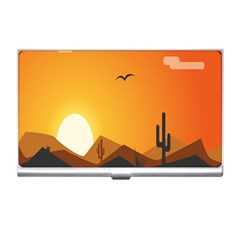Sunset Natural Sky Business Card Holders by Mariart