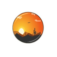 Sunset Natural Sky Hat Clip Ball Marker (4 Pack) by Mariart