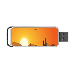 Sunset Natural Sky Portable Usb Flash (one Side) by Mariart
