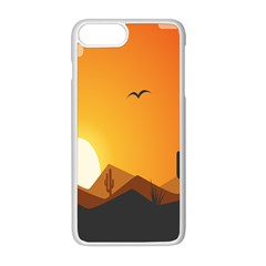 Sunset Natural Sky Apple Iphone 8 Plus Seamless Case (white)