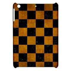 Square1 Black Marble & Yellow Grunge Apple Ipad Mini Hardshell Case by trendistuff