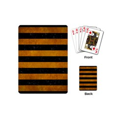 Stripes2 Black Marble & Yellow Grunge Playing Cards (mini)  by trendistuff