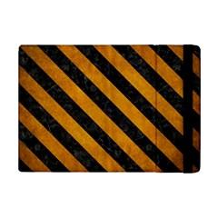 Stripes3 Black Marble & Yellow Grunge Ipad Mini 2 Flip Cases by trendistuff