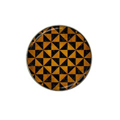 Triangle1 Black Marble & Yellow Grunge Hat Clip Ball Marker (4 Pack) by trendistuff