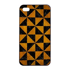 Triangle1 Black Marble & Yellow Grunge Apple Iphone 4/4s Seamless Case (black) by trendistuff