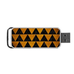 Triangle2 Black Marble & Yellow Grunge Portable Usb Flash (one Side) by trendistuff