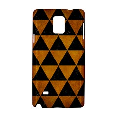 Triangle3 Black Marble & Yellow Grunge Samsung Galaxy Note 4 Hardshell Case by trendistuff