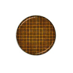 Woven1 Black Marble & Yellow Grunge Hat Clip Ball Marker (10 Pack) by trendistuff