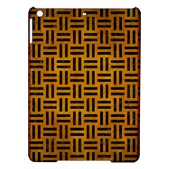 Woven1 Black Marble & Yellow Grunge Ipad Air Hardshell Cases