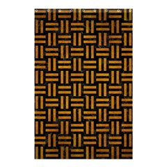 Woven1 Black Marble & Yellow Grunge (r) Shower Curtain 48  X 72  (small)  by trendistuff
