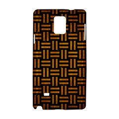 Woven1 Black Marble & Yellow Grunge (r) Samsung Galaxy Note 4 Hardshell Case by trendistuff