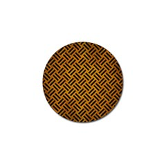 Woven2 Black Marble & Yellow Grunge Golf Ball Marker (10 Pack)