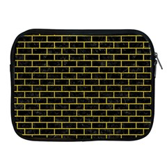 Brick1 Black Marble & Yellow Leather (r) Apple Ipad 2/3/4 Zipper Cases