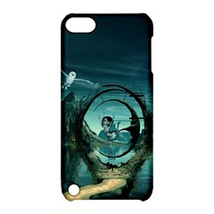 Cute Fairy Dancing On The Moon Apple Ipod Touch 5 Hardshell Case With Stand by FantasyWorld7