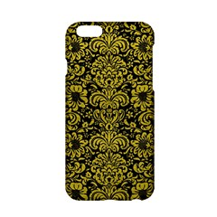 Damask2 Black Marble & Yellow Leather (r) Apple Iphone 6/6s Hardshell Case