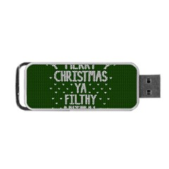 Ugly Christmas Sweater Portable Usb Flash (two Sides) by Valentinaart