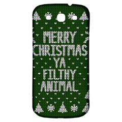 Ugly Christmas Sweater Samsung Galaxy S3 S Iii Classic Hardshell Back Case by Valentinaart