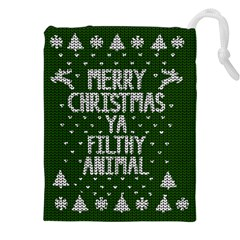 Ugly Christmas Sweater Drawstring Pouches (xxl) by Valentinaart