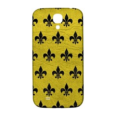 Royal1 Black Marble & Yellow Leather (r) Samsung Galaxy S4 I9500/i9505  Hardshell Back Case by trendistuff