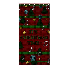 Ugly Christmas Sweater Shower Curtain 36  X 72  (stall)  by Valentinaart