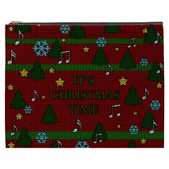 Ugly Christmas Sweater Cosmetic Bag (xxxl)  by Valentinaart