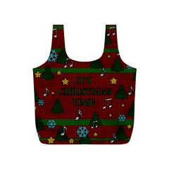 Ugly Christmas Sweater Full Print Recycle Bags (s)  by Valentinaart