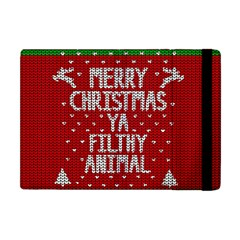 Ugly Christmas Sweater Apple Ipad Mini Flip Case by Valentinaart