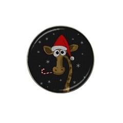 Christmas Giraffe  Hat Clip Ball Marker by Valentinaart