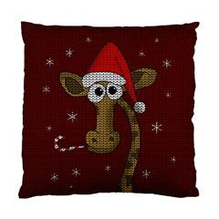Christmas Giraffe  Standard Cushion Case (two Sides) by Valentinaart