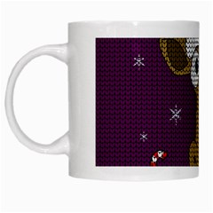 Christmas Giraffe  White Mugs by Valentinaart