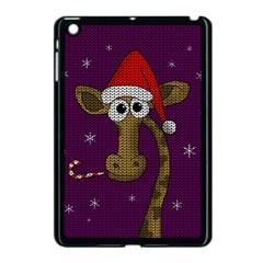 Christmas Giraffe  Apple Ipad Mini Case (black) by Valentinaart