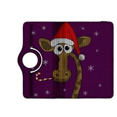 Christmas Giraffe  Kindle Fire Hdx 8 9  Flip 360 Case by Valentinaart