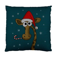 Christmas Giraffe  Standard Cushion Case (one Side) by Valentinaart