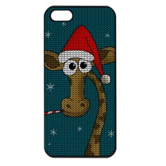 Christmas Giraffe  Apple Iphone 5 Seamless Case (black) by Valentinaart