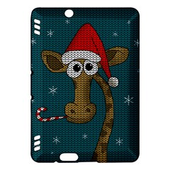 Christmas Giraffe  Kindle Fire Hdx Hardshell Case by Valentinaart