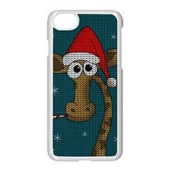 Christmas Giraffe  Apple Iphone 8 Seamless Case (white) by Valentinaart