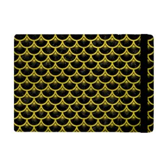 Scales3 Black Marble & Yellow Leather (r) Apple Ipad Mini Flip Case by trendistuff