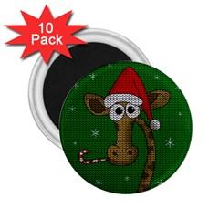 Christmas Giraffe  2 25  Magnets (10 Pack)  by Valentinaart
