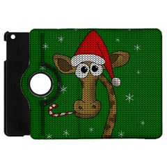 Christmas Giraffe  Apple Ipad Mini Flip 360 Case by Valentinaart