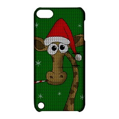 Christmas Giraffe  Apple Ipod Touch 5 Hardshell Case With Stand by Valentinaart