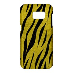 Skin3 Black Marble & Yellow Leather Samsung Galaxy S7 Hardshell Case  by trendistuff